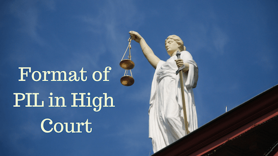 PIL in High Court - Format download