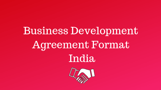 Business Development Agreement Format India pdf and docs