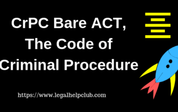 Crpc Bare Act with PDF, The code of criminal procedure