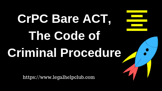 CRPC Bare Act PDF – The Code of Criminal Procedure