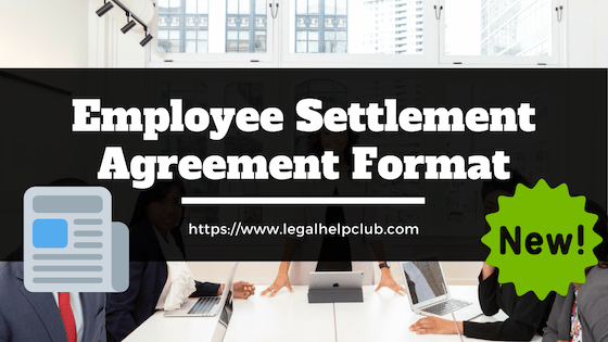 Employee Settlement Agreement Format with PDF & Docs