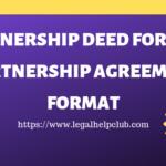 Partnership deed Format PDF and Docs Download