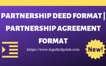 Partnership deed Format PDF and Docs Download