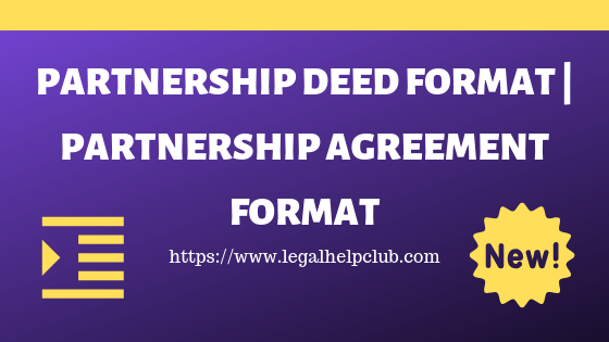 Partnership Deed Format, Partnership Deed Registration with PDF