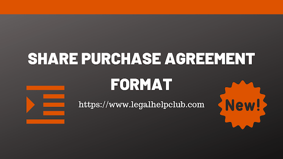 Share Purchase Agreement Format with PDF and Docs