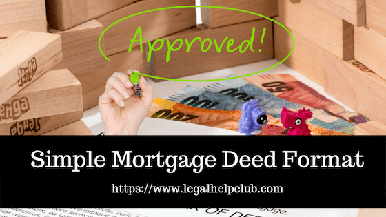 Simple Mortgage Deed Format with PDF and docs