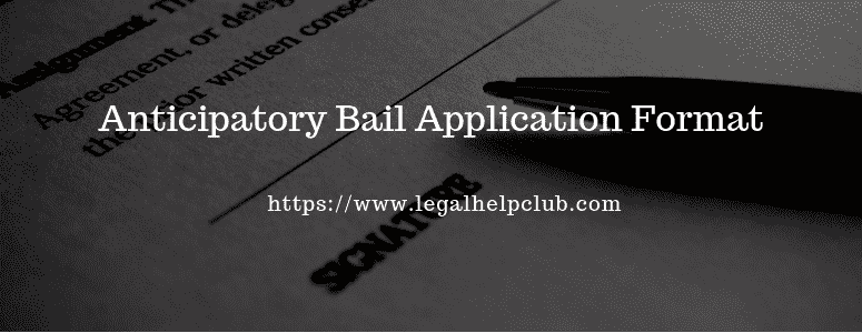 Anticipatory Bail application Format with PDF and Docs
