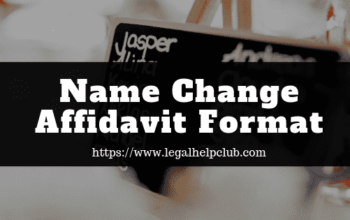 Name change affidavit format by legal help club