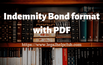 indemnity Bond Format with PDF by Legal help Club