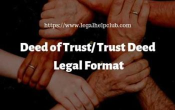 Deed of Trust Legal Format with PDF