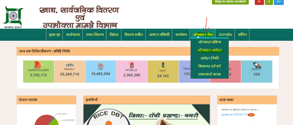 Ration Card Jharkhand Online Apply