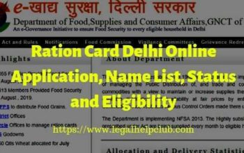 Ration card Delhi Online Apply- Status Check and Eligibility
