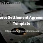 Divorce Settlement Agreement Template