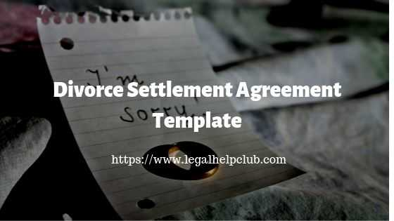 Divorce Settlement Agreement Template PDF Download